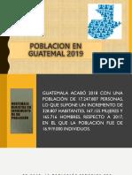 Poblacion en Guatemal 2019