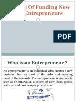 Entrepreneurship (Sources of Funding)