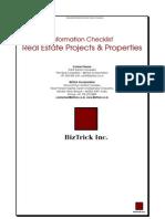 Checklist Real Estate