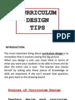 Curriculum Design Tips