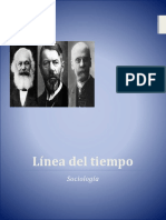 Línea del tiempo - Sociologia