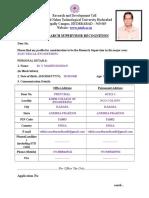 Supervisor Recognition Form