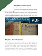 3 Methods for Crack Depth Measurement in Concrete