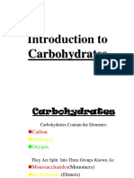 Introduction to Carbohydrates Digestion Metabolism