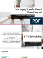 Managing Stakeholders and Their Impact