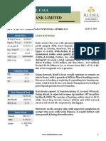 Rudra Shares Bandhan Bank Ltd.- Short Term Call Research Report