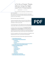 How to Do a Proper Thesis Defense Using the Right PowerPoint Presentation - SlideModel
