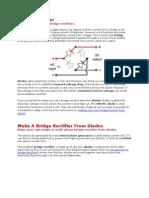 How to Build 12vdc From Bridge Rectifier