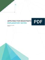 Application for Registration RPEQ