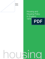 Housing and Housing Policy in England 1975 - 2002
