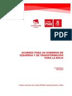Acuerdo PSOE IU La Rioja