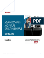 Advanced topics and future directions in MPLS