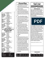 Bulletin 18th August 2019