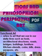 Lesson 3. Functions and Philosophical Perspectives on Art