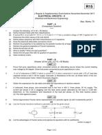 15A02301 Electrical Circuits - II
