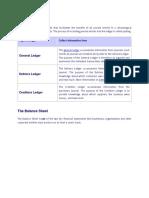 Ledger and Balance Sheet