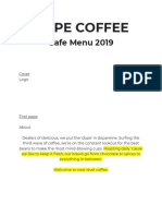 Dope Coffee Cafe Menu 2019