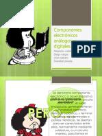 Componentes electrónicos y análogos digitales