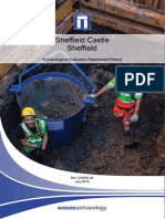 Sheffield Castle Archaeological Evaluation Assessment Report