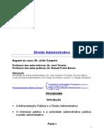 Apontamentos de Direito Administrativo I (1)