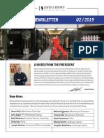 CorporateNewsletter, Quarter 2, 2019