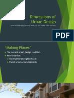 01 Dimensions of Urban Design, Morphological Dimension