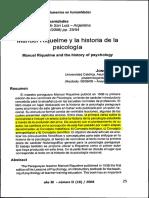 Manuel Riquelme y la historia de la psicología