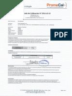 Certicado de Calibracion de Telurometro