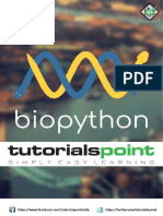 Biopython Tutorial