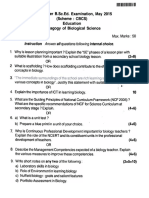 88893 - VI Sem - Pedagogy of Biological Science
