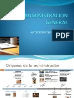 Administracion antecedentes