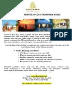 Job Ad Coco Palm - F&B Coordinator (4)
