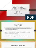 first aid for teachers and employees