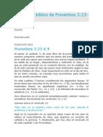 Estudio Bíblico de Proverbios 3-11