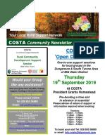 COSTA Newsletter - Aug Sept 2019