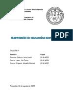 Suspensión de garantías individuales, Licenciatura en DDHH USAC