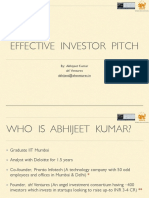 Effective Investor Pitch