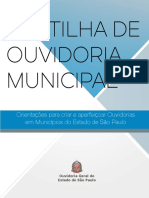 Cartilha Ouvidoria Municipal