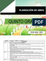 Planeacion 5to Abril