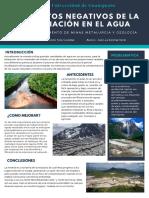 Cartel Efectos Negativos de La Lixiviacion en El Agua