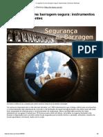 O Segredo de Uma Barragem Segura_ Instrumentos e Técnicos Eficientes
