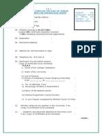 Application Proforma for Engagement of Junior Residents NPG JIPMER II Karaikal Puducherry
