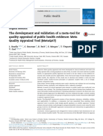 The Development and Validation of a Meta Tool for Quality Apprai 2016 Public