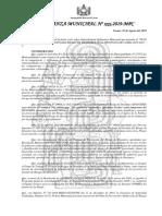 PLAN DE PREVENCIÓN Y REDUCCIÓN DEL RIESGO DE DESASTRES DEL DISTRITO DE LA PUNA 2019-2021