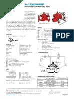 Válvula Reductora de Presión ISZW209FP-114-6 Data Sheet