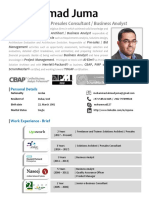 Mohammad Juma - Solutions Architect & Senior Business Analyst - Aug 2019
