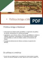 Apresentação 1 Política antiga e Medieval