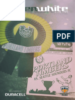 Green & White Magazine | Portland Timbers vs. Seattle Sounders FC | Aug. 23, 2019