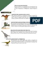 Tipos de Dinosaurio