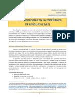 Metodologias en La Enseñanza de L2-LE